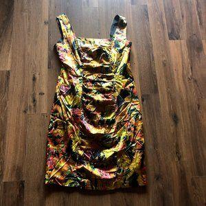 Taylor Multi color sleeveless Shift Dress